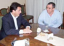 Gustavo Ick junto a Sergio Massa